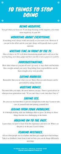 10 Things to stop doing