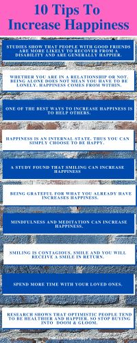 10 Tips to increase happiness